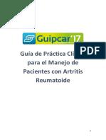 Guía de Práctica Clínica Para El Manejo de Pacientes Con Artritis Reumatoide