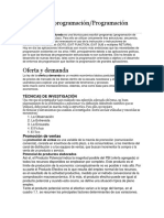 Técnicas de Programación, Promoción y Potencial de Productos Elaborados, Oferta y Demanda, Imporantcia de Productos y Servicios