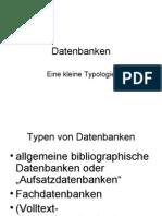 Datenbanken Präsentation