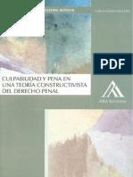 Culpabilidad y Penal en Una Teoria Constructivista