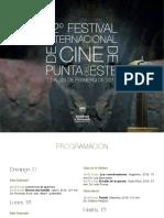 Programa del Festival de Cine de Punta del Este 2019