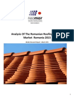 Analysis of the Romanian Roofing Systems Market- April 2015