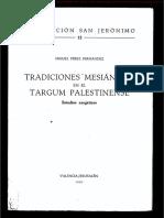 Tradiciones Mesiánicas en El Targum Palestinense - Miguel Pérez Fernández