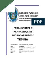 TESINA TRANSPORTE  DE HIDROCARBURO