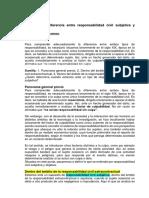 Diferencia Entre Respon. Civil Objetiva y Subjetiva