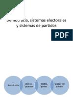 Democracia, Sistemas Electorales y Sistemas de Partidos