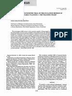 Um Ensaio Multicentrico Prospectivo Do Método de Ovulação Fertility and Sterility Vol 36 Nº2 Agos1981