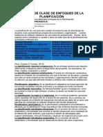 Manual de Clase de Enfoques de La Planificacion