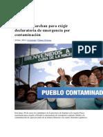 Contaminacion Del Pueblo Por Mercuriomina