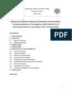 """Manual de Evaluación Integral Del Desempeño de Autoridades, Personal Académico e Investigativo y Administrativo de La Universidad Técnica """"Luis Vargas Torres"""" de Esmeraldas (1)"""