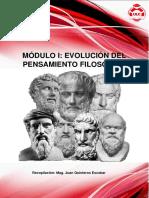 EVOLUCIÓN DEL PENSAMIENTO FILOSÓFICO