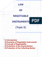 Topic 5 Law of Negotiable Instruments