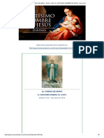 El Camino de Maria . Edicion 1223. El Santisimo Nombre de Jesús. 3 de Enero