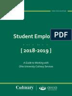 Student Employee Handbook