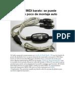 Cable USB MIDI Barato