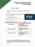 Actividad de Entrega – Fundamentos de Servicio Modulo 1