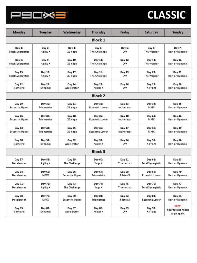 P90X3-CLASSIC-SCHEDULE pdf