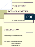 RE-EnGINEERING and Doamin Analysis_Tiruvaipati_nishanth