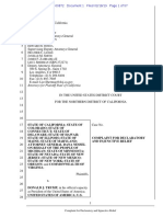 State of CA Et Al. vs Trump Et Al CASE # 319-Cv-00872