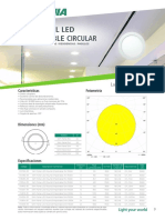 Slim Panel Led Empotrado Circular