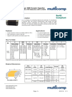 Capacitors SMD Table