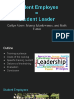 student leader in class