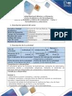 Guía de Actividades y Rúbrica de Evaluación - Tarea 1 - Termodinámica y Soluciones