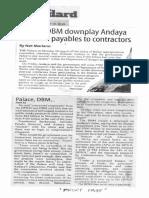 Manila Standard, Feb. 19, 2019, Palace, DBM downplay Andaya claim on payables to contractors.pdf