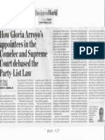Business World, Feb. 19, 2019, How Gloria Arroyo's appointtees in the Comelec and Supreme Court debased the Party-List Law.pdf