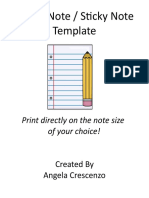 Sticky Note Sample Word Template