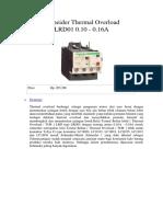 Schneider Thermal Overload LRD01 0.docx