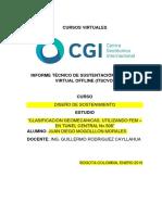 "CLASIFICACION GEOMECANICAS, UTILIZANDO FEM – EN TUNEL CENTRAL Nv.500"""
