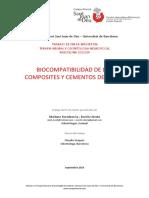 BIOCOMPATIBILIDAD DE LOS COMPOSITES Y CEMENTOS DENTALES
