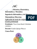 Aplicación de Teoría de Conjuntos a La Escuela Profesional