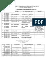 Jadual Guru Bertugas 2019