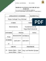 Informe Final 1 Seguridad Industrial - Electrotecnia