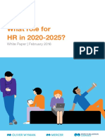 What Role for HR in 2020-2025