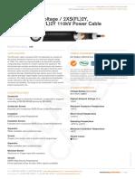 High Voltage 2xs Fl 2y a2xs Fl 2y 123kv Power Cable