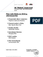 Plan Rada Karate Kluba MLADOST Za 2010