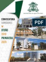 Convocatoria Admisiones 0toño 2019