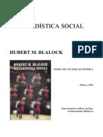 ESTADÍSTICA SOCIAL HUBERT M. BLALOCK FONDO de CULTURA ECONÓMICA. México, Este Material Se Utiliza Con Fines Exclusivamente Didácticos
