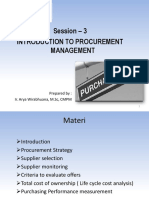 Part 3 - Procurement Management and Negotiation