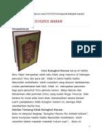 Mengenal Kitab Bulughul Maram