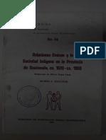 Cuaderno No. 35 Relaciones Étnicas y la sociedad indígena en la provincia de Guatemala, ca. 1620 – ca. 1800