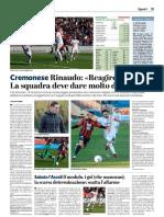 La Provincia Di Cremona 19-02-2019 - Cremonese