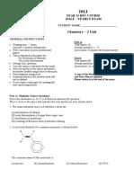 Chemistry Data Sheet