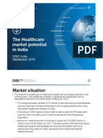 28-09 the Healthcare Market in India 2010