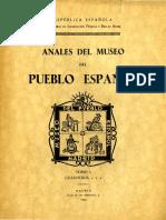 Anales del Museo del Pueblo Español. 1935.
