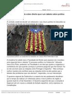 Catalunha Um Debate Sobre Direito Que é Um Debate Sobre Política