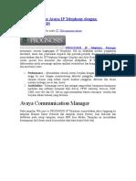 Cara Memonitor Avaya IP Telephony Dengan PROGNOSIS